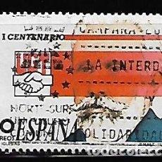Sellos: SELLO ESPAÑA USADO. 1988. EDIFIL 2948. I CENT. DE LA UNIÓN GENERAL DE TRABAJADORES. PABLO IGLESIAS.. Lote 145369670