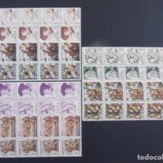Sellos: CENTENARIOS, JUAN DE JUNI, RUBENS, TIZIANO - COMPLETA, EDIFIL 2160/68 - 1977 BLOQUES DE 4.. A1392. Lote 153308418