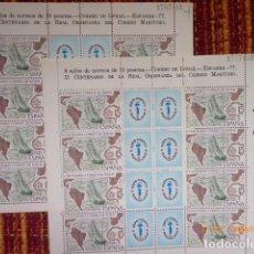 Sellos: PAREJA HOJAS EXPAMER 1977, CORREOS DE INDIAS, Nº CONTINUOS, . Lote 153360146