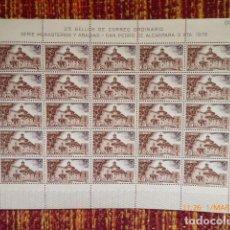 Sellos: 25 SERIES DE SERIE MONASTERIOS 3 VALORES, EN PLANCHA , VER FOTOS. Lote 153361230