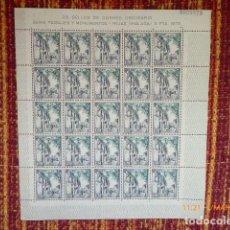 Sellos: PLIEGO DE 25 SELLOS, MONUMENTOS 5 PTAS, MIJAS,. Lote 153366618