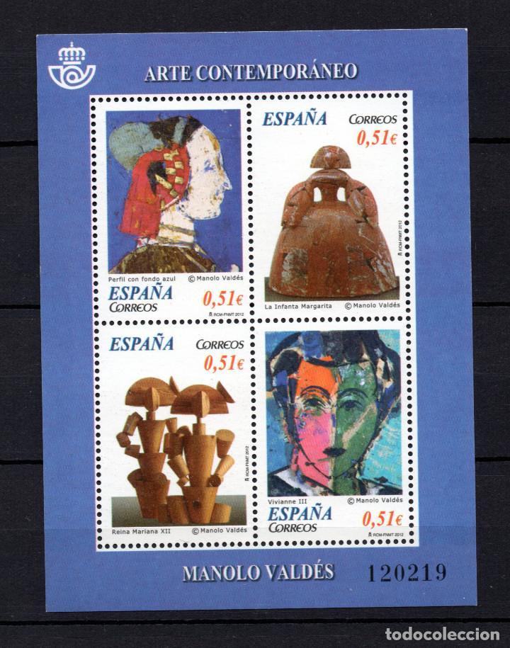 ESPAÑA 4739** - AÑO 2012 - ARTE CONTEMPORANEO - PINTURA - MANOLO VALDES (Sellos - España - Juan Carlos I - Desde 2.000 - Nuevos)