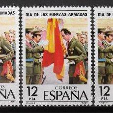 Sellos: EDIFIL 2617, TRES SELLOS, NUEVOS, SIN CH. FUERZAS ARMADAS.. Lote 154271682
