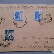 Sellos: SOBRE COMPLETO REPUBLICANO - FECHADOR 7 ENERO 1939 - CERRADA CON 5 LACRES - VER IMAGENES.. Lote 154522922
