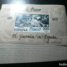 Sellos: ESPAÑA 1981 - 10 JUEGOS DE LA HOJITA EL GUERNIKA DE PICASSO - EDIFIL Nº 2631** - A FACIAL. Lote 154681226