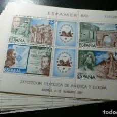 Sellos: ESPAÑA 1980 - 10 JUEGOS DE LA HOJITA ESPAMER '80 - EDIFIL Nº 2583** - A FACIAL. Lote 154681494
