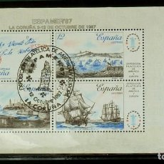 Sellos: SELLOS ESPAÑA 1987-FOTO 624- BLOQUE, USADO ESPAÑER 87. Lote 155128938