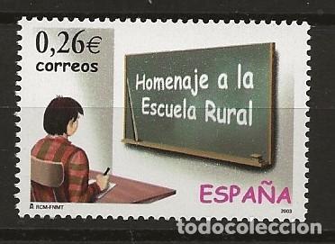 R13.G1/ ESPAÑA 2003, MNH**, EDIFIL 3978, HOMENAJE A LA ESCUELA RURAL (Sellos - España - Juan Carlos I - Desde 2.000 - Nuevos)