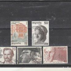 Sellos: ESPAÑA 1987 - EDIFIL NROS. 2880-84 - CENTENARIOS - USADOS. Lote 155797656