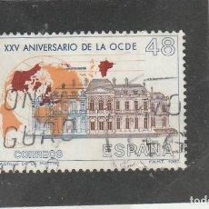 Sellos: ESPAÑA 1987 - EDIFIL NROS. 2874 - ANIV. OCDE - USADO. Lote 155797710