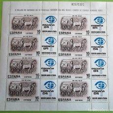 Sellos: ESPAÑA. MP 2 (2719) DÍA DEL SELLO: CARRO DE CORREO ROMANO, EN BLOQUE DE CUATRO. 1983. SELLOS NUEVOS. Lote 155815852