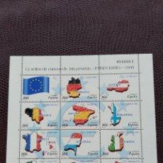 Sellos: MINI PLIEGO NUEVO. LOS PAÍSES DEL EURO. . Lote 155995254
