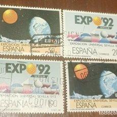 Sellos: SELLOS EXPO DE SEVILLA 1992. CIRCULADOS.. Lote 156004862