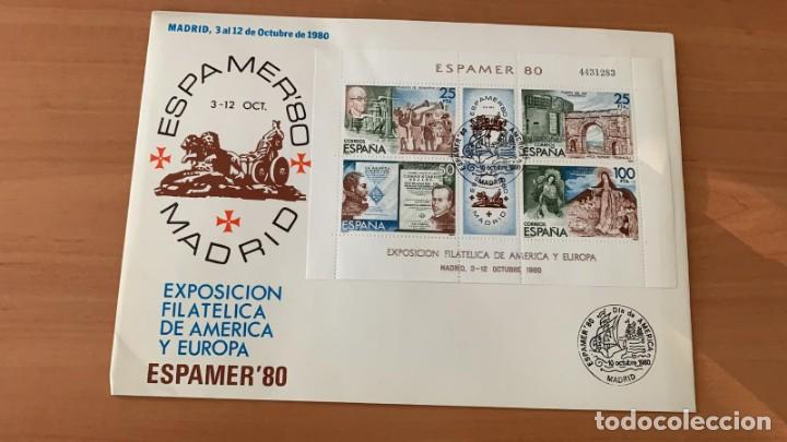 SOBRE EDIFIL 2583, ESPAMER, EXPOSICION FILATELICA PROVINCIAL EN MADRID (Sellos - España - Juan Carlos I - Desde 1.975 a 1.985 - Cartas)