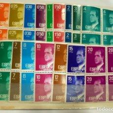 Sellos: SELLOS ESPAÑA BASICAS REY 1976 Y 1977 - 17 VALORES X 4. Lote 156567882