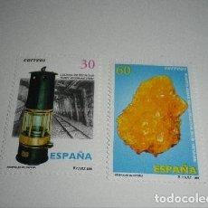 Sellos: ESPAÑA EDIFIL 3408/09*** - AÑO 1996 - MINERALES DE ESPAÑA NUEVOS. Lote 156615614