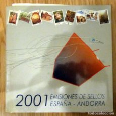 Sellos: LIBRO DE EMISIONES DE SELLOS ESPAÑA - ANDORRA 2001 COMPLETO CORREOS Y TELEGRAFOS. Lote 156775158