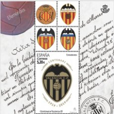 Sellos: HB** ESPAÑA, CENTENARIO DEL VALENCIA CF, EDIFIL 5299. Lote 157698478