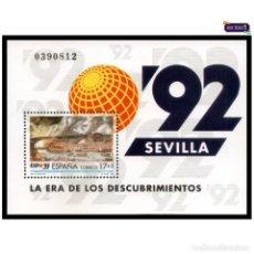 Sellos: ESPAÑA 1992. EDIFIL 3191. HOJITA EXPO 92. SEVILLA. NUEVO** MNH. Lote 157842066