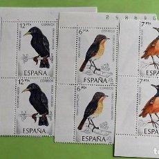 Selos: ESPAÑA. 2820/23 PÁJAROS, EN BLOQUE DE CUATRO. 1985. SELLOS NUEVOS Y NUMERACIÓN EDIFIL. Lote 158709212