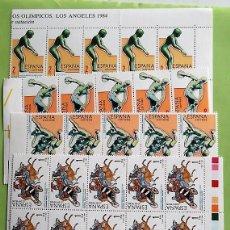 Selos: ESPAÑA. 2768/71 JJ. OO. LOS ANGELES: CUADRIGA ROMANA, SALTADOR DE NATACIÓN, LUCHADORES, DISCÓBOLO DE. Lote 158770594