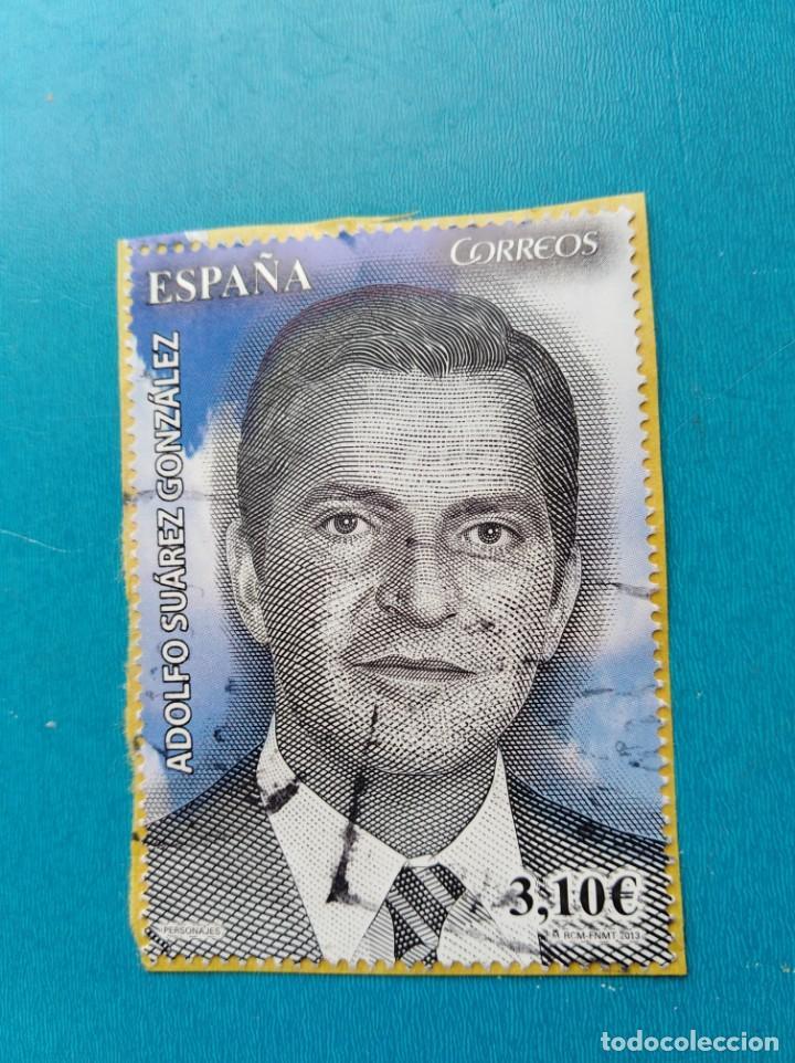 SELLO ESPAÑA ADOLFO SUÁREZ (Sellos - España - Juan Carlos I - Desde 2.000 - Usados)