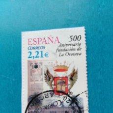 Timbres: SELLO ESPAÑA 500 ANIVERSARIO FUNDACIÓN DE LA OROTAVA. Lote 158940650