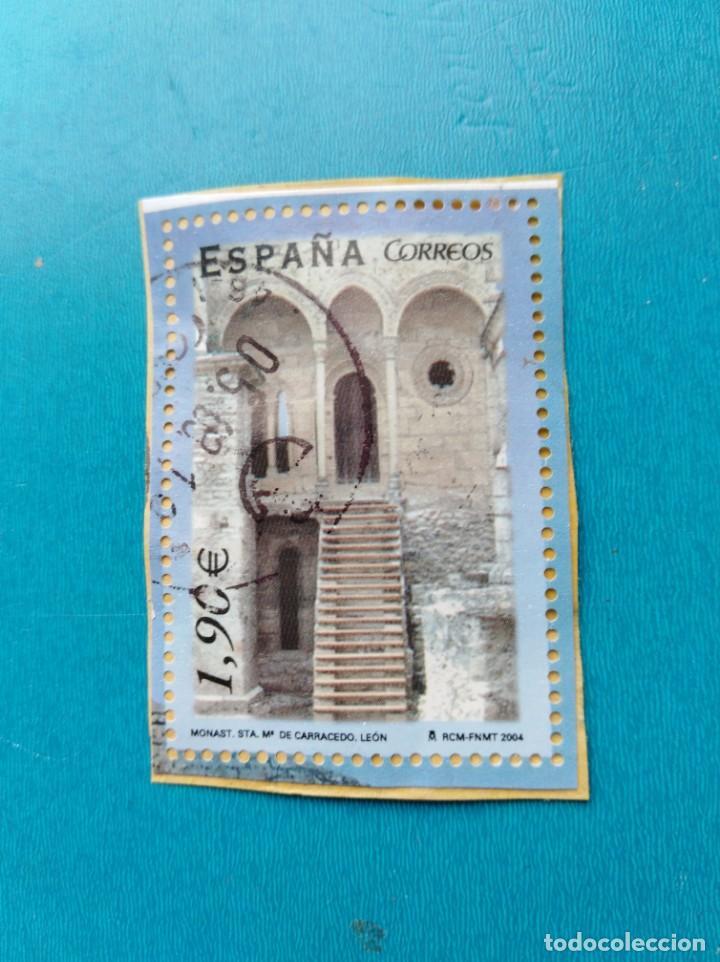 SELLO ESPAÑA MONASTERIO SANTA MARIA CARRACEDO LEON (Sellos - España - Juan Carlos I - Desde 2.000 - Usados)