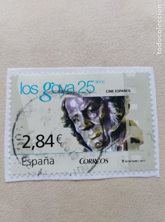 SELLO ESPAÑA LOS GOYA 25 AÑOS (Sellos - España - Juan Carlos I - Desde 2.000 - Usados)