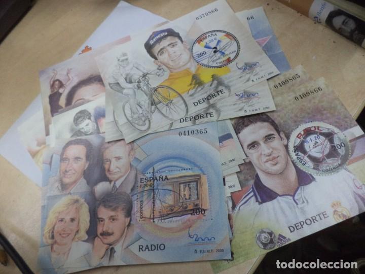SELLOS HOJA BLOQUE 1,20 € AÑO 2000.SERIE COMPLETA,11 PERSONAJES FAMOSOS.22 SELLOS F.N.M.T. (Sellos - España - Juan Carlos I - Desde 2.000 - Nuevos)