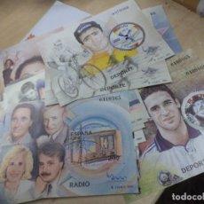 Sellos: SELLOS HOJA BLOQUE 1,20 € AÑO 2000.SERIE COMPLETA,11 PERSONAJES FAMOSOS.22 SELLOS F.N.M.T.. Lote 159155450