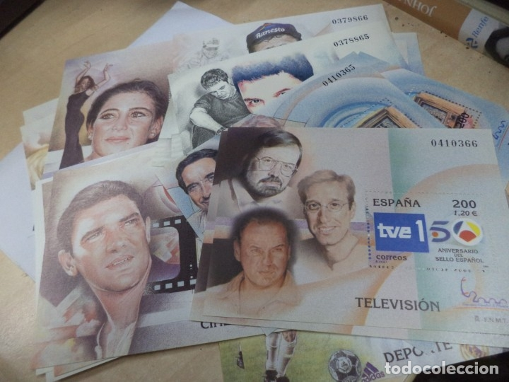 Sellos: Sellos hoja bloque 1,20 € Año 2000.Serie completa,11 Personajes famosos.22 sellos F.N.M.T. - Foto 2 - 159155450