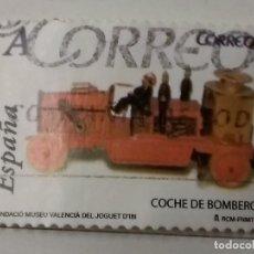 Sellos: ESPAÑA 2007, SELLO USADO COCHE DE BOMBEROS 2007 TARIFA A . Lote 159316994