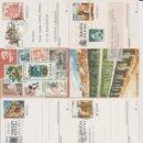 Sellos: LOTE NUEVE POSTALES USADAS O PUBLICIDAD.. Lote 159356054