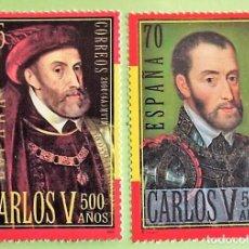 Sellos: ESPAÑA. 3697/98 CARLOS V. 2000. SELLOS NUEVOS Y NUMERACIÓN EDIFIL. Lote 159527769