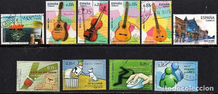VARIAS SERIES COMPLETAS USADAS DE ESPAÑA AÑO 2.011(2) (Sellos - España - Juan Carlos I - Desde 2.000 - Usados)