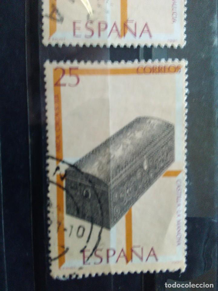 EDIFIL 3131 ARCA, DE LA SERIE: ARTESANIA ESPAÑOLA, MUEBLES. AÑO 1991 (Sellos - España - Juan Carlos I - Desde 1.986 a 1.999 - Usados)