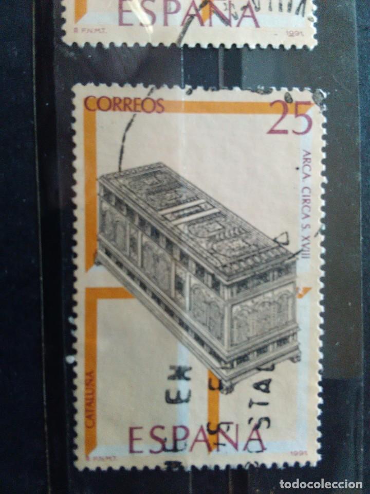 EDIFIL 3132 ARCA DE LA SERIE: ARTESANIA ESPAÑOLA, MUEBLES. AÑO 1991 (Sellos - España - Juan Carlos I - Desde 1.986 a 1.999 - Usados)
