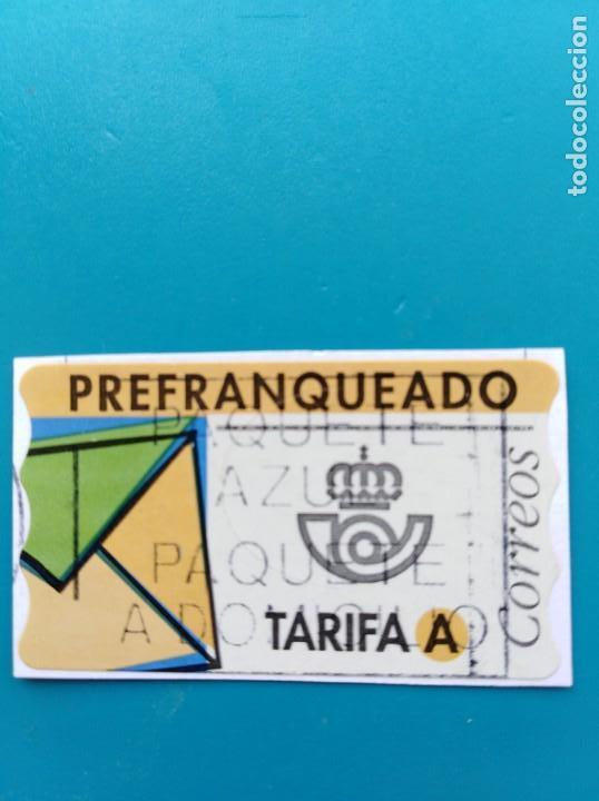 SELLO ETIQUETA DE FRANQUEO CORREOS PREFRANQUEADO TARIFA A (Sellos - España - Juan Carlos I - Desde 1.986 a 1.999 - Usados)