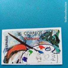 Sellos: SELLO ETIQUETA DE FRANQUEO CORREOS PINTURA. Lote 160112830