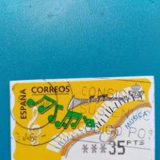 Sellos: SELLO ETIQUETA DE FRANQUEO CORREOS MUSICA. Lote 160116350
