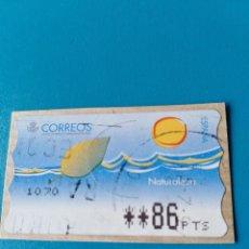 Sellos: SELLO ETIQUETA DE FRANQUEO CORREOS NATURALEZA. Lote 160130702