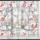 Sellos: ESPAÑA. 1995. OLÍMPICOS DE PLATA. EDIFIL 3364/77. EN BLOQUE. Lote 160487034