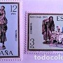 Sellos: ESPAÑA. 2368/69 NAVIDAD: MISTERIO DE LA NAVIDAD Y FIGURA DE NACIMIENTO. 1976. SELLOS NUEVOS Y NUMERA. Lote 160487774