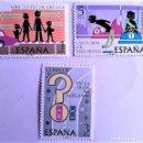 Sellos: ESPAÑA. 2312/14 SEGURIDAD VIAL. 1976. SELLOS NUEVOS Y NUMERACIÓN EDIFIL.. Lote 160488366