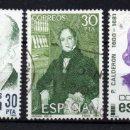 Sellos: ESPAÑA 2646/48 - AÑO 1982 - CENTENARIOS - LITERATURA. Lote 160523858