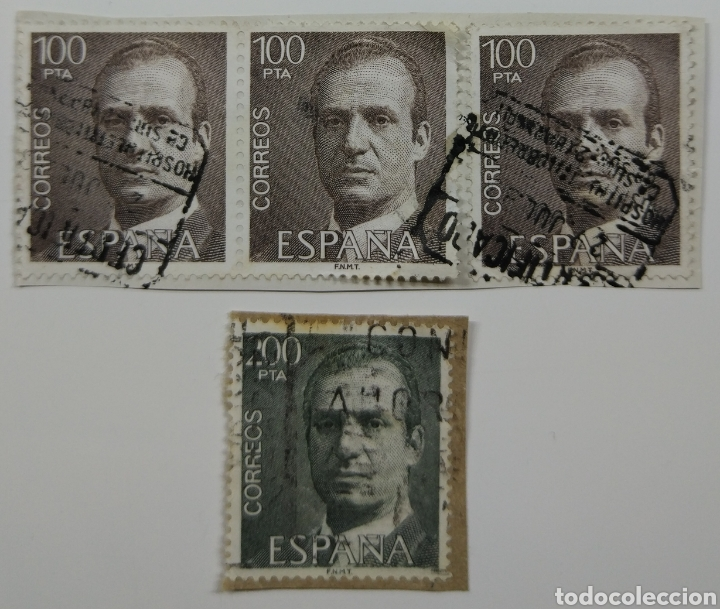 SELLOS REY JUAN CARLOS 100 Y 200 PESETAS NUM 2605 Y 2606 (Sellos - España - Juan Carlos I - Desde 1.975 a 1.985 - Usados)