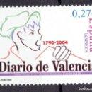 Sellos: ESPAÑA - 2004 EDIFIL Nº 4094 - DIARIO DE VALENCIA. Lote 160600530