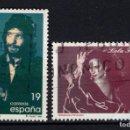 Sellos: ESPAÑA 3442/43 - AÑO 1996 - PERSONAJES - MUSICA - LOLA FLORES Y CAMARON DE LA ISLA. Lote 160618390