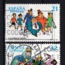 Sellos: ESPAÑA 3486/87 - AÑO 1997 - COMICS - PERSONAJES DE TEBEO . Lote 160618838